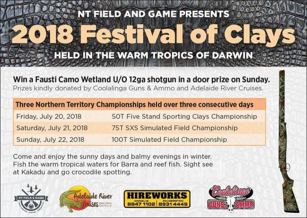 gun comp poster festival of clays nt shooting comp july 2018